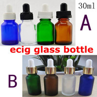 30ml dropper bottle glass - 30ml PET glass bottle with dropper pure glass ecig liquid bottle for electronic cigarette ego e cigarette