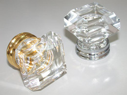 Wholesale 20PCS MM CLEAR SQUARE CRYSTAL KNOB ON A CHROME BRASS BASE