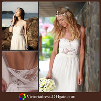 Other Reference Images Scoop Romantic Boho Style Beach Wedding Dress Sheer Scoop Sleeveless Backless Appliques 2014 Summer Chiffon Pant Suit Formal Bride Wedding Gowns