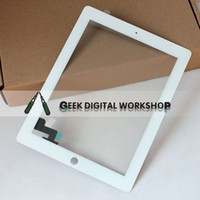 Wholesale Touch screen digitizer for iPad iPad iPad Black white color with free sticker