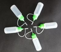 Wholesale Electronic cigarette PE plastic empty dropper juice bottles filler needle tip bottle ml capacity colorful cap