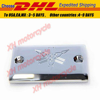 Wholesale motorcycle parts chrome Billet brake Fluid Reservoir Cap for Yamaha Virago