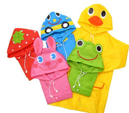 Wholesale Kids Rain Coat Children Raincoat Rainwear Rainsuit Kids Waterproof Animal Raincoat