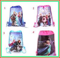 Wholesale 2014 hot drawstring bags kids backpacks handbags children school bags kids shopping bags present backpack