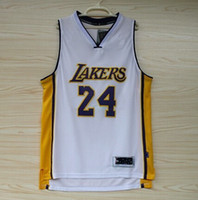 Basketball Men Sleeveless Lakers #24 BRYANT White Basketball Jerseys Brand Mens Sports Jerseys Cheap Basketball Shirts High Quality Sports Shirts Outdoor Sportswear
