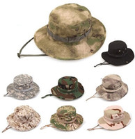 Wholesale High Quality Military Army Bonnie Hat Hunting Hat Round Brimmed Sun Bonnet Hat Outdoor Camping Cap
