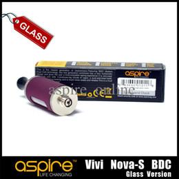 Original Vivi Nova-S Aspire E cigarette Clearomizer Pyrex Glass Atomizer 3.5Ml Glassomizer Atomizer Aspire Vivi Nova-S Glass Atomizer