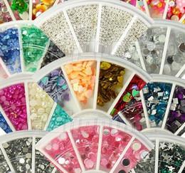 Wholesale 10 New Nail Art Rhinestones Glitters Acrylic Tips Decoration Manicure Wheel styles tx45
