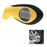 Wholesale 50pcs PSI KPA BAR Digital LCD Air Pressure Tyre Auto Car Tire Gauge High Accuracy Tester Tool with LED for Car Motor Bike K1302