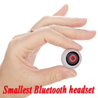 Universal Bluetooth Headset  Smallest Wireless Stereo Mini Bluetooth Earphone Headphone headset Handsfree For Universal S5 iPhone 5S 6 note 3 Mobile Cell Phone Tablet