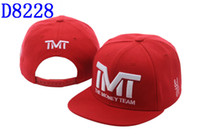 Wholesale COOL Red White TMT Courtside Snapback hat Hats Cheap Snapbacks Brand colorful Snapback cap Men Adjustable Mixed Snap backs ball Caps