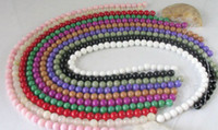 Wholesale 20 Strands Mixed colour dyed jade beads Round mm M1869