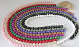 20 Strands OF Mixed colour dyed Simulated jade beads Round shape 8mm M1869