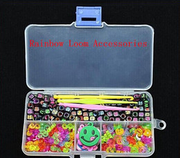 Wholesale Alphabet Beads S Clips C Clips Charms Hook Box Kit For Rainbow Loom Rubber Bands Arts and Crafts DHL