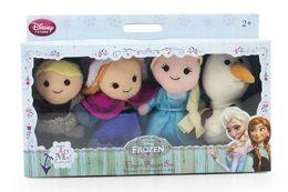 Wholesale Frozen Finger Puppet Set of Four Stuffed Toys Finger puppets Olaf Kristoff Anna Else Plush doll