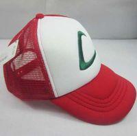 Wholesale Factory Price pokemon ash ketchum costume cosplay mesh cap hat pokemon mesh ash baseball hat