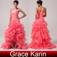 Grace Karin New Chic Celebrity Organza Designer Ruching Form...