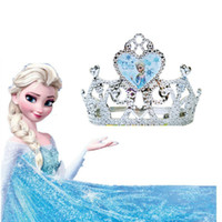 Tiaras Polyethersulfone Character Frozen Elsa Anna Crown girl hairbands silver gold color populer gift for girls baby costume frozen dress accessories,5pcs lot