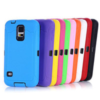 Wholesale S3 Hybrid Silicon Case - 2 in 1 Robot Hybrid Rugged Impact Rubber Matte Shockproof Silicon+PC Case Cover for iPhone 4 4S 5 5S 5C SAMSUNG GALAXY S3 S4 S5 50pc JE