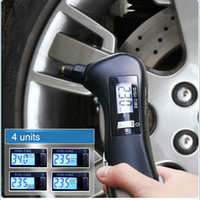 Wholesale 10pcs in Multifunction Digital Car Auto Tyre Pressure Tire Gauge Tester Flashlight Auto Emergency Diagnostic Tool LCD Display K1303