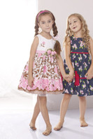 TuTu Summer A-Line High quality baby clothes 2013 Summer vintage Beige Korean kids clothing sleeveless 100 cotton flowers print girl Corsage Tutu Dresses 2376