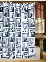 Wholesale 2014 New Marilyn Monroe Flowers Shower Curtain X180cm