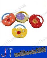 Wholesale Tambourine Rattles Musical Instruments Hand Drum Animal Pattern Baby Wooden Toys MYY1789