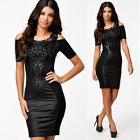 embroidery work - M L XL Plus Size New Black Embroidery Bodycon Dress OL Elegant Pencil Dress Women Work Wear Casual Summer Dress