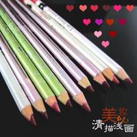 Lip Liner Army Green,Sky Blue,Chocolate,Orange,Lig / others Wholesale-Painting make-up lilaiya waterproof lip liner lip pencil pink red nude color orange