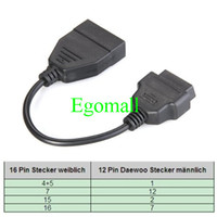 Wholesale OBD pin OBD1 OBD2 to GM Pin Automobile diagnosis scanner Adapter Connector Cable for GM Daewoo