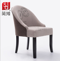 Wholesale Wholesales solid wood leg fabric simple fashion euro syle Leisure chair