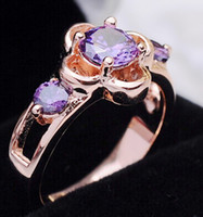 Wholesale US SIZE four claw crystal ring diamond simulation genuine gold plated CZ Ring Zircon Ring