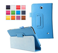 Wholesale case For Tab T230 PU Leather Case Stand Tablet Cover Case For Samsung Galaxy Tab T230 T231 dhl