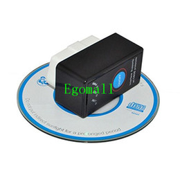 Wholesale Super Mini Bluetooth ELM327 V2 OBD2 Diagnostic Scanner With Power Switch Work on Android Symbian Windows ELM