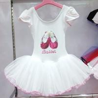 Wholesale 2014 The New Children Dance Dress White Girl Ballet Dress Pure Cotton Ball Gown Dance Perform Clothes Kids Ballet Dance Dresses GX571