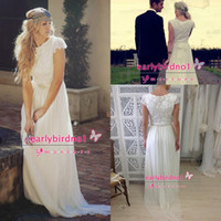 Cheap 2015 Modest Bohemian Backless Boho Beach Bridal Dresses Long Short Sleeve Garden Wedding Gowns Cheap Romantic Ball Dress Sexy Summer Lace