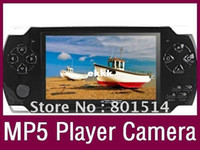Cheap Wholesale-Handheld Game Player With 4GB MP3 MP5 Video FM Camera TV OUT Portable Game Console Multimedia Player 4.3 Inch PMP