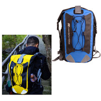Wholesale Outdoor Camping Waterproof Backpack PVC amp D Oxford Bag Rafting Fishing Hiking Cycling for Mobile Phone Camera Blue Yellow H10940