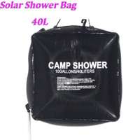 Hydration Packs solar heating - 40L Gallon Camping Hiking Solar Heated Camp Shower Bag Outdoor Shower Water Bag Portable H10958