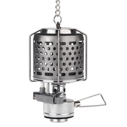 online shopping Mini Portable Camping Lantern Gas Light Tent Lamp Torch Hanging Metal Lamp chimney Butane LUX for Outdoor Travel H10912