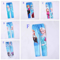 Leggings & Tights Girl Spring / Autumn 6 styles! 2014 New frozen girls leggings Elsa Anna Snow printed baby girl tight pants cute children cartoon legging trousers kids clothes