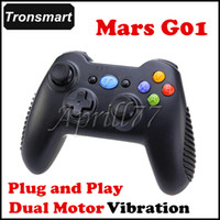 Wholesale Tronsmart Mars G01 G Wireless Gamepad Controller Plug and Play Dual Motor Vibration best for Android TV BOX Phone PS3 Tablet PC MINI PC