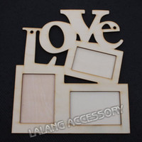 Bamboo & Wooden Yes Multi-frame 1PCS Free Shipping LOVE Wood Photo Frame White Base Frame DIY Picture Frame 870314
