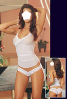 Wholesale Bedroom Chemise Sheer Mesh Camisol Panty Babydoll Womens Nightwear One Size