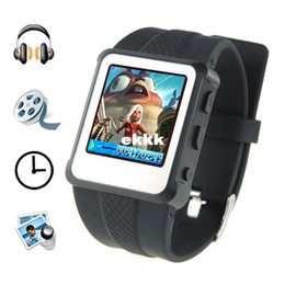 Wholesale-Original 1.5-inch Watch MP4 Player 8GB Black