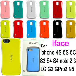 Wholesale iface mall durable color point PC TPU Shockproof Case cover for iphone S S C samsung galaxy S3 S4 S5 i9600 note N9000 LG G2 N5