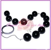 Bolas Anal Juguetes sexuales, diámetro del enchufe del extremo 1,4 cm Negro Perla Beads Ass producto adulto para las mujeres