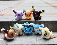 Wholesale Movie Pokemon Pocket Monster Styles inch Umbreon Eevee Espeon Jolteon Vaporeon Flareon Glaceon Leafeon Plush Toys stuffed dolls