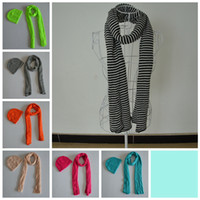 Wholesale 2014 new winter warm knitted fashion a set of scarf shawl scarves