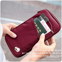 Wholesale Clutch bag passport bag passport holder document notes document package Oxford fabric Card Holders Colors
